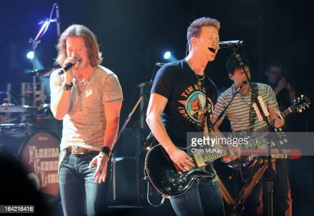 Tyler Hubbard and Brian Kelly of Florida Georgia Line perform at the Georgia Theatre on March 20 2013 in Athens Georgia