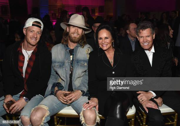 Tyler Hubbard Brian Kelley of Florida Georgia Line Mary Travis and Randy Travis attend Country Music Hall of Fame and Museum New AMERICAN CURRENTS...