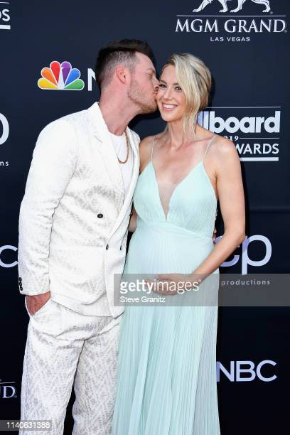 Tyler Hubbard of Florida Georgia Line and Hayley Stommel attend the 2019 Billboard Music Awards at MGM Grand Garden Arena on May 1, 2019 in Las...