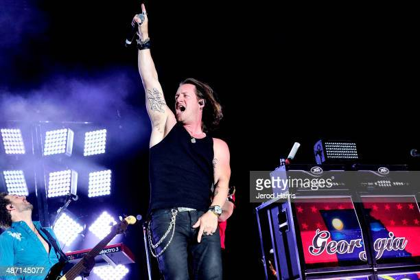 Tyler Hubbard of Florida Georgia Line performs at the 2014 Stagecoach California's Country Music Festival Day 3 at the Empire Polo Club on April 27...