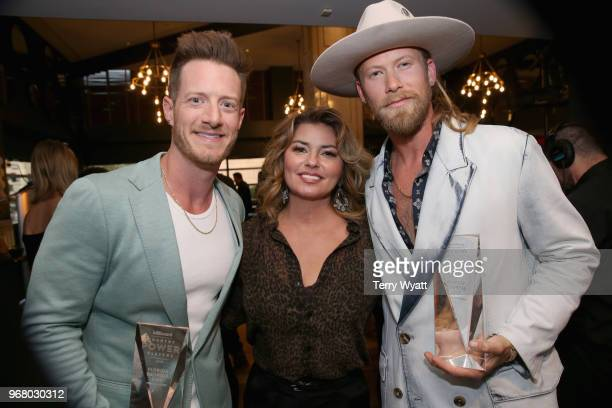 Tyler Hubbard Shania Twain and Brian Kelley attend as Billboard celebrates the Country Music industry with Country Power Players at WestEnd Kitchen...