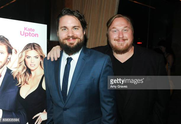 Tyler Jackson and Keith Kjarval attend The Layover film premiere afterparty hosted by DIRECTV at The Highlight Dream Hollywood with Foster Grant and...