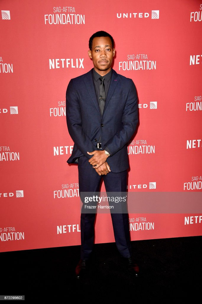 Tyler James Williams attends the SAG-AFTRA Foundation Patron of the Artists Awards 2017 at the Wallis Annenberg Center for the Performing Arts on November 9, 2017 in Beverly Hills, California.