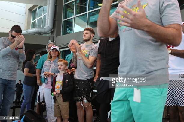 Tyler Johnson of the Miami Heat participates in the 2018 Family Festival at the American Airlines Area on March 4 2018 in Miami Florida NOTE TO USER...