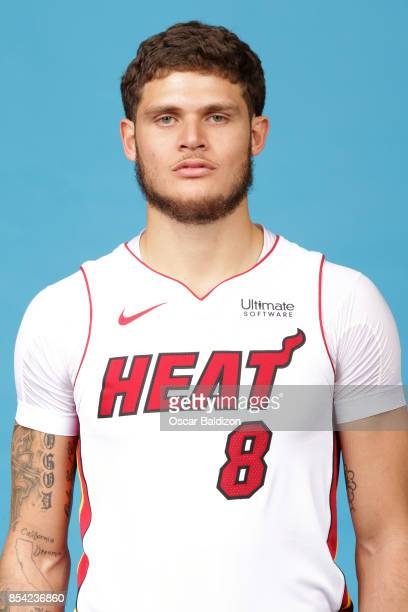 Tyler Johnson of the Miami Heat poses for a head shot at American Airlines Arena in Miami Florida on September 25 2017 NOTE TO USER User expressly...