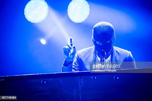 Tyler Joseph of Twenty One Pilots Perform In Mediolanum Forum on stage on November 7 2016 in Milan Italy