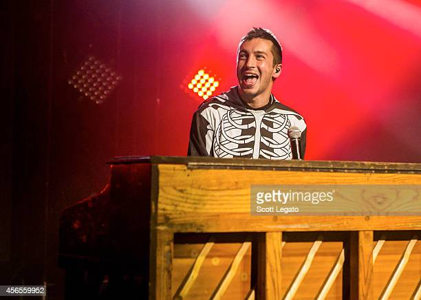 Tyler Joseph of Twenty One Pilots performs at The Fillmore Detroit on October 2 2014 in Detroit Michigan