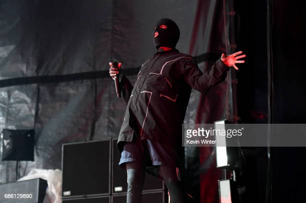Tyler Joseph of Twenty One Pilots performs at the Hangout Stage during 2017 Hangout Music Festival on May 20 2017 in Gulf Shores Alabama
