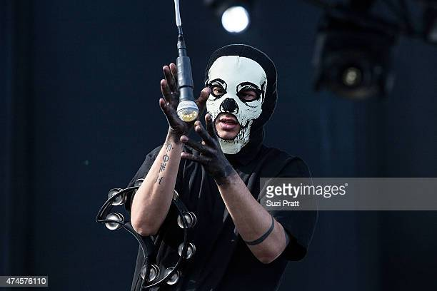 Tyler Joseph of twenty one pilots performs at the Sasquatch Music Festival at The Gorge on May 23 2015 in George Washington