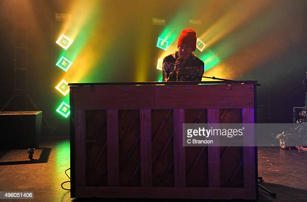 Tyler Joseph of Twenty One Pilots performs on stage at the O2 Shepherd's Bush Empire on November 6 2015 in London England