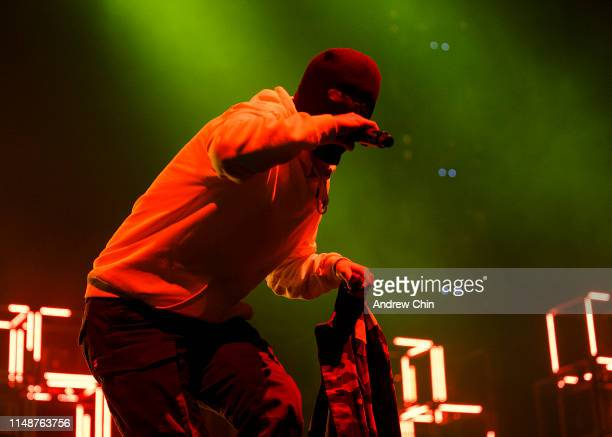 Tyler Joseph of Twenty One Pilots performs on stage during the Bandito tour at Rogers Arena on May 12 2019 in Vancouver Canada