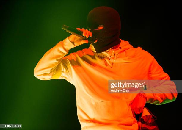 Tyler Joseph of Twenty One Pilots performs on stage during the Bandito tour at Rogers Arena on May 12, 2019 in Vancouver, Canada.