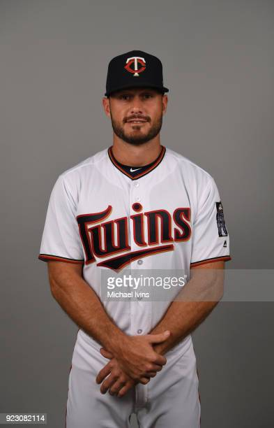 Tyler Kinley of the Minnesota Twins poses during Photo Day on Wednesday February 21 2018 at CenturyLink Sports Complex in Fort Myers Florida