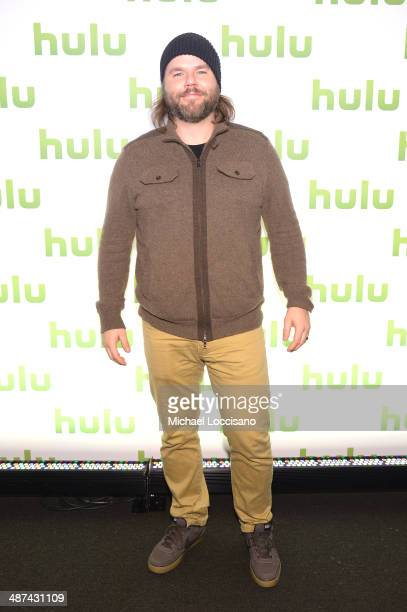 Tyler Labine attend Hulu's Upfront Presentation on April 30 2014 in New York City