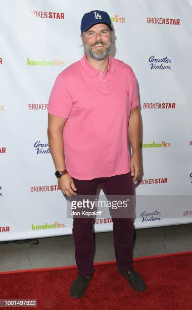 Tyler Labine attends premiere of Gravitas Ventures' 'Broken Star' at TCL Chinese 6 Theatres on July 18 2018 in Hollywood California
