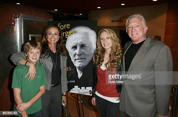 Tyler Lisa Kelsey and Peter Douglas attend the premiere of Peter's father Kirk Douglas' one man show Before I Forget at the CTG/Kirk Douglas Theatre...