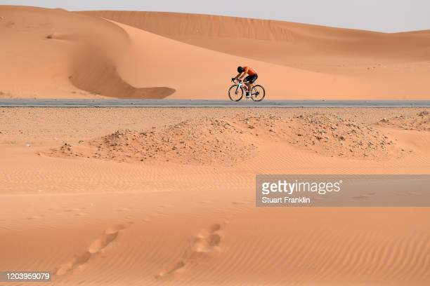 Tyler Magner of The United States and Team Rally Cycling / Dune / Desert / eduring the 1st Saudi Tour 2020, Stage 1 a 173km stage from Saudi Arabian...