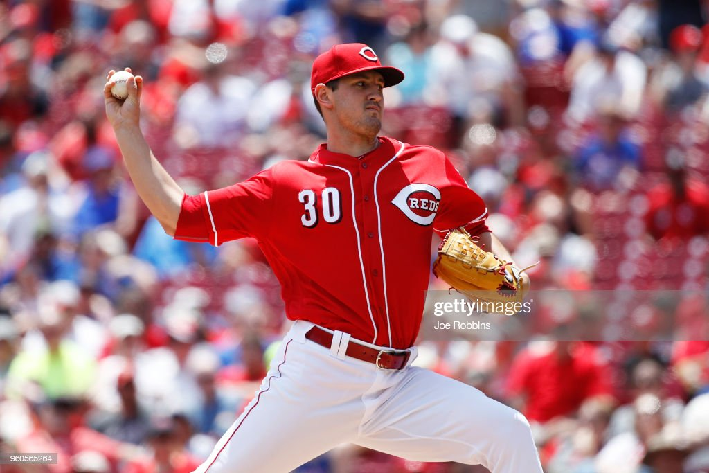 Tyler Mahle #30 of the Cincinnati Reds pitches in the second inning against the Chicago Cubs at Great American Ball Park on May 20, 2018 in Cincinnati, Ohio.
