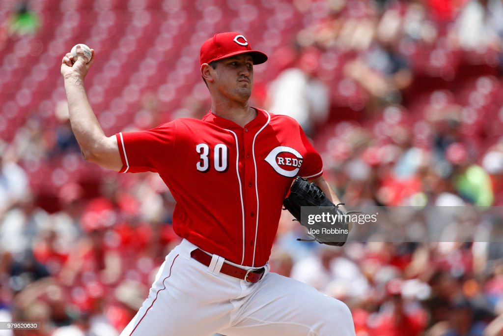 Tyler Mahle #30 of the Cincinnati Reds pitches in the second inning against the Detroit Tigers at Great American Ball Park on June 20, 2018 in Cincinnati, Ohio.