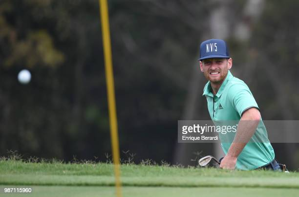 Tyler McCumber of the United States on the 15th hole during the final round of the PGA TOUR Latinoamérica Guatemala Stella Artois Open at La Reunion...
