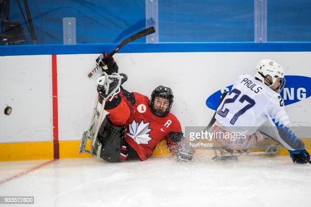 Tyler McGREGOR and Josh PAULS during The Ice Hockey gold medal game between Canada and United States during day nine of the PyeongChang 2018...