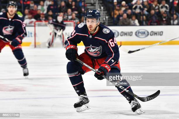 Tyler Motte of the Columbus Blue Jackets skates against the New Jersey Devils on December 5 2017 at Nationwide Arena in Columbus Ohio