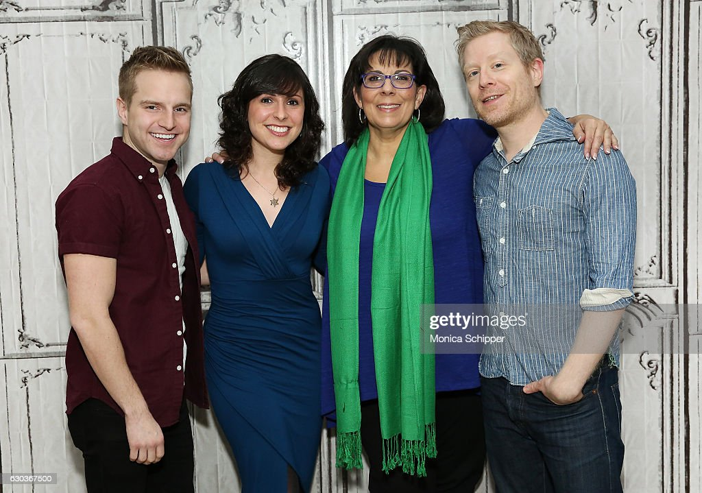 Tyler Mount, Ruthie Fierberg, Christine Pedi and Anthony Rapp attend Build Presents Anthony Rapp, Tyler Mount & Christine Pedi & Playbill Discussing 'Broadway Con' at AOL HQ on December 21, 2016 in New York City.