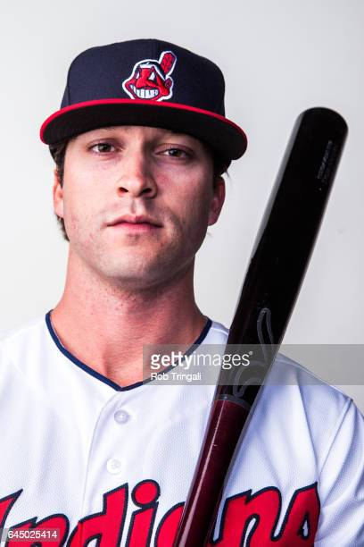 Tyler Naquin of the Cleveland Indians poses for a portrait during Indians Photo Day at the Goodyear Sports Complex on February 24 2017 in Goodyear...