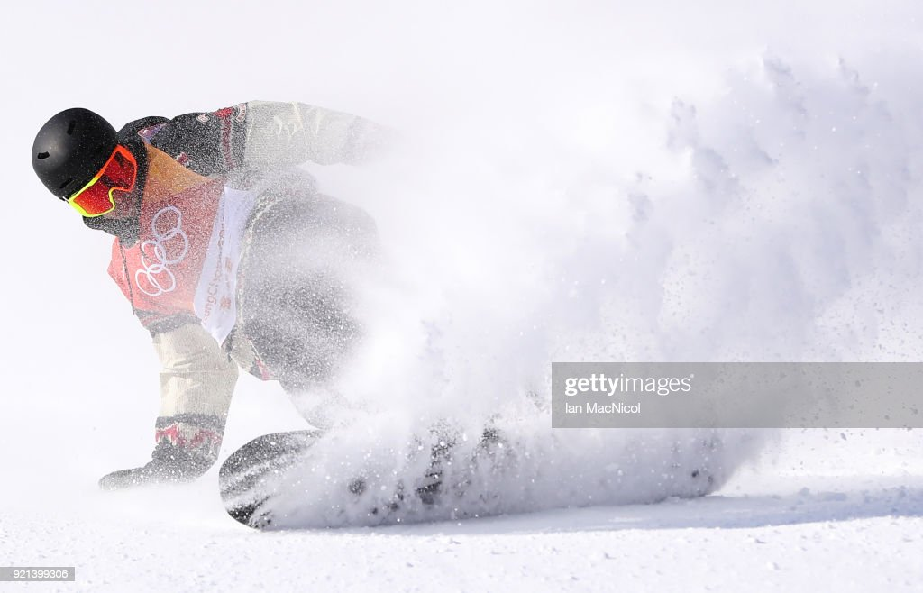 Tyler Nicholson of Canada competes during the Snowboard Men's Slopestyle Final on day two of the PyeongChang 2018 Winter Olympic Games at Pheonix Snow Park on February 11, 2018 in Pyeongchang-gun, South Korea.