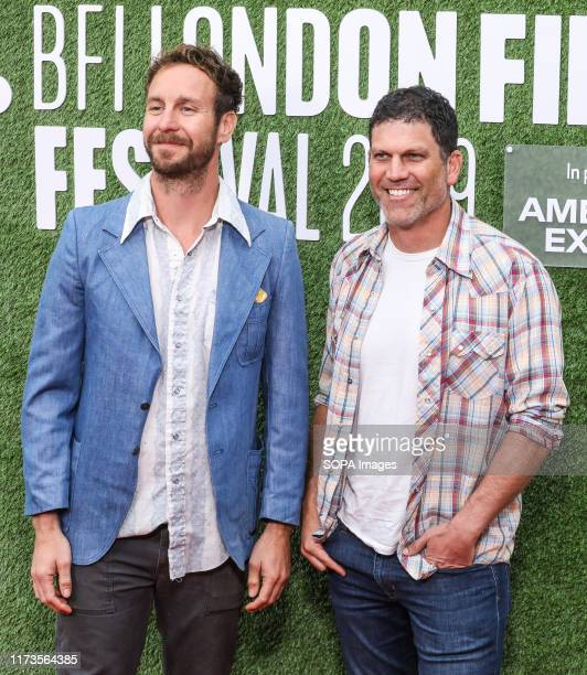 Tyler Nilson and Michael Schwartz attend the premiere of The Peanut Butter Falcon as part of the BFI London Film Festival at Odeon Luxe Leicester...