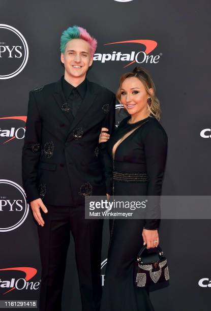 Tyler 'Ninja' Blevins and Jessica Blevins attend The 2019 ESPYs at Microsoft Theater on July 10, 2019 in Los Angeles, California.