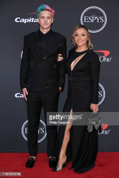 Tyler 'Ninja' Blevins and Jessica Blevins attend The 2019 ESPYs at Microsoft Theater on July 10 2019 in Los Angeles California