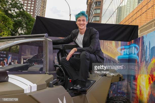 """Tyler """"Ninja"""" Blevins attends the World Premiere of 20th Century Studios' Free Guy on August 03, 2021 in New York City."""