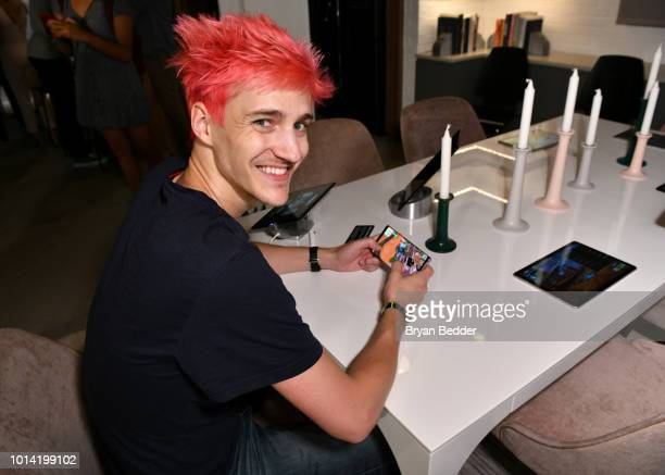 Tyler Ninja Blevins puts Fortnite for Android to the test on the new Samsung Galaxy Note9 at Samsung's launch event on August 9 2018 in New York City