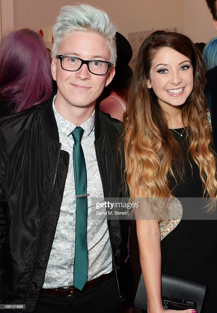 Tyler Oakley and Zoe Sugg attend YouTube phenomenon Zoe ...