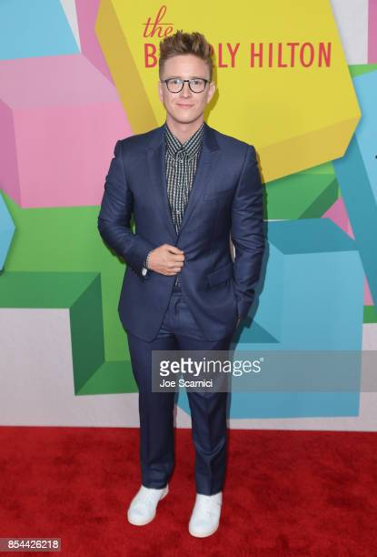 Tyler Oakley at the 2017 Streamy Awards at The Beverly Hilton Hotel on September 26 2017 in Beverly Hills California