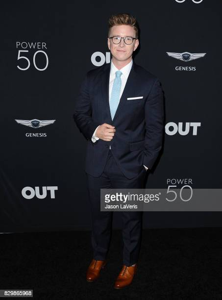 Tyler Oakley attends OUT Magazine's inaugural POWER 50 gala and awards presentation at Goya Studios on August 10 2017 in Los Angeles California