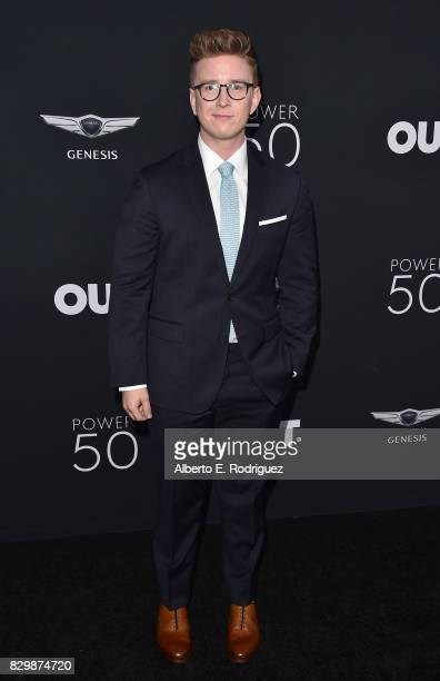 Tyler Oakley attends OUT Magazine's Inaugural Power 50 Gala Awards Presentation at Goya Studios on August 10 2017 in Los Angeles California