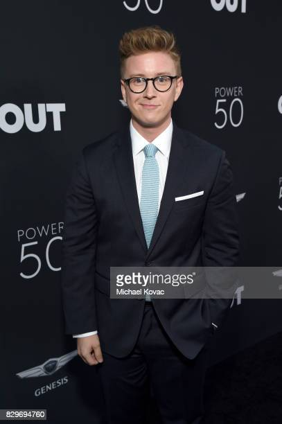 Tyler Oakley attends OUT Magazine's OUT POWER 50 gala and award presentation presented by Genesis on August 10 2017 in Los Angeles California