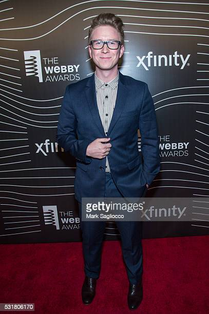 Tyler Oakley attends the 20th Annual Webby Awards at Cipriani Wall Street on May 16 2016 in New York City