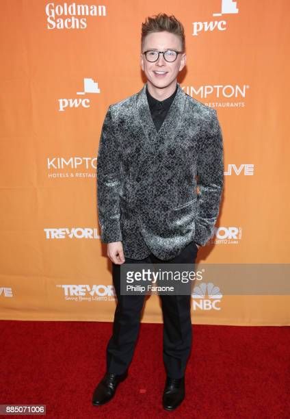 Tyler Oakley attends The Trevor Project's 2017 TrevorLIVE LA Gala at The Beverly Hilton Hotel on December 3 2017 in Beverly Hills California