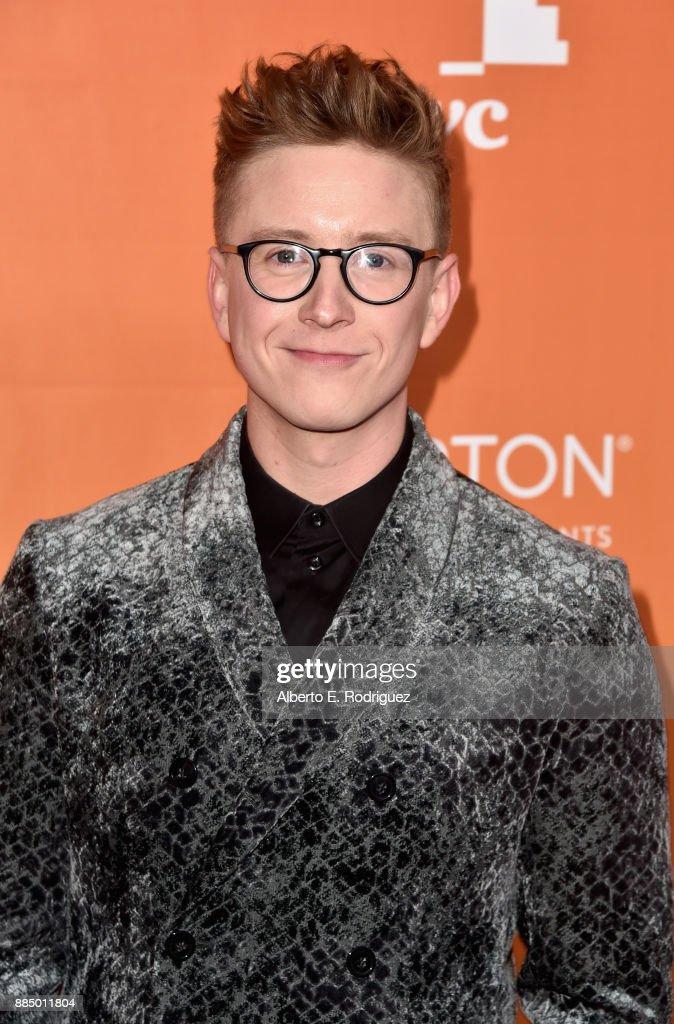 Tyler Oakley attends The Trevor Project's 2017 TrevorLIVE LA on December 3, 2017 in Beverly Hills, California.
