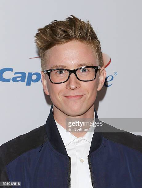 Tyler Oakley attends the Z100's iHeartRadio Jingle Ball 2015 at Madison Square Garden on December 11 2015 in New York City