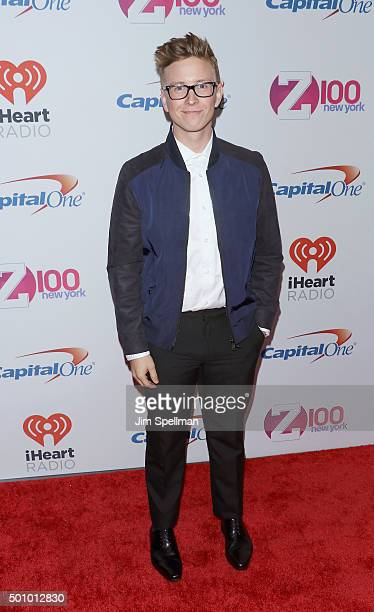 Tyler Oakley attends the Z100's iHeartRadio Jingle Ball 2015 at Madison Square Garden on December 11, 2015 in New York City.