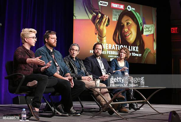 Tyler Oakley Oliver Luckett CEO The Audience writer/correspondent Doug Rushkoff writer/director Frank Koughan and Raney Aronson deputy executive...