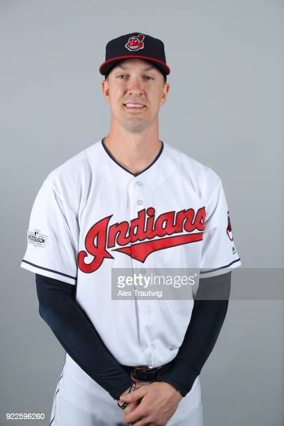 Tyler Olson of the Cleveland Indians poses during Photo Day on Wednesday February 21 2018 at Goodyear Ballpark in Goodyear Arizona