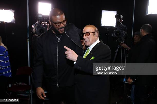 Tyler Perry and Clive Davis attend AllStar Lineup Pays Tribute At 'Aretha A GRAMMYCelebration For The Queen Of Soul at The Shrine Auditorium on...