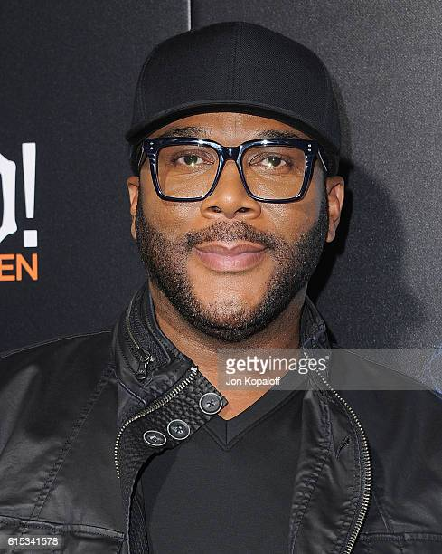 Tyler Perry arrives at the Los Angeles Premiere Boo A Madea Halloween at ArcLight Cinemas Cinerama Dome on October 17 2016 in Hollywood California