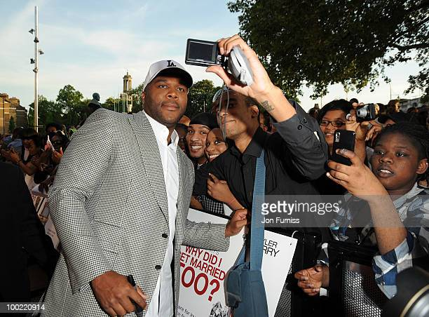 Tyler Perry attends a preview screening of 'Why Did I Get Married' on May 21 2010 in London England