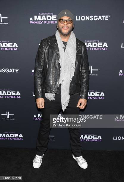 Tyler Perry attends a screening for Tyler Perry's A Madea Family Funeral at SVA Theater on February 25 2019 in New York City
